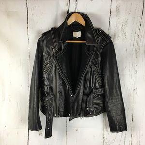 3.1 Philip Lim 6 Moto Jacket leather black